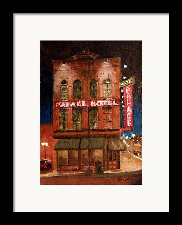 Cityscape Framed Print featuring the painting Palace Hotel by Bill Brauker