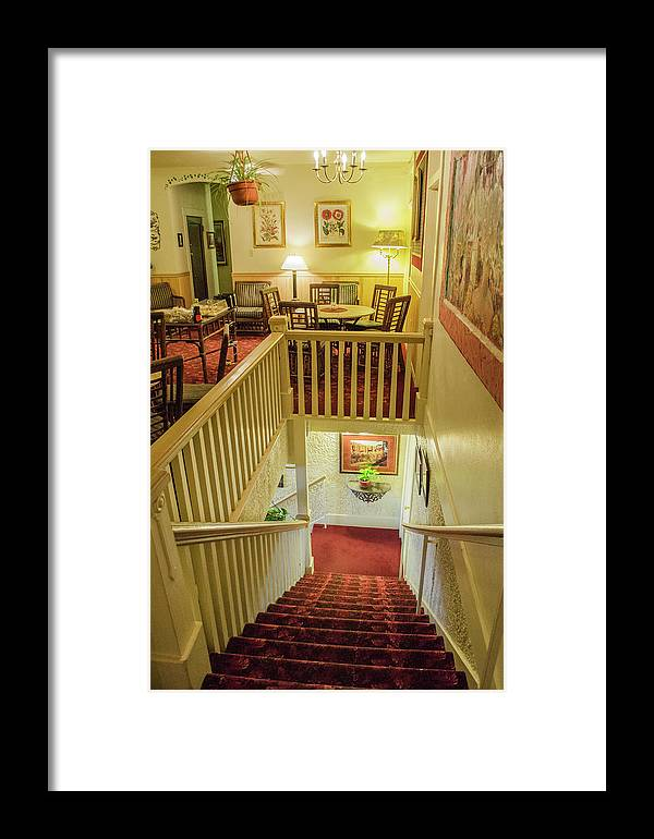 Hotel Framed Print featuring the photograph Palace Hotel Staircase by Allen Sheffield