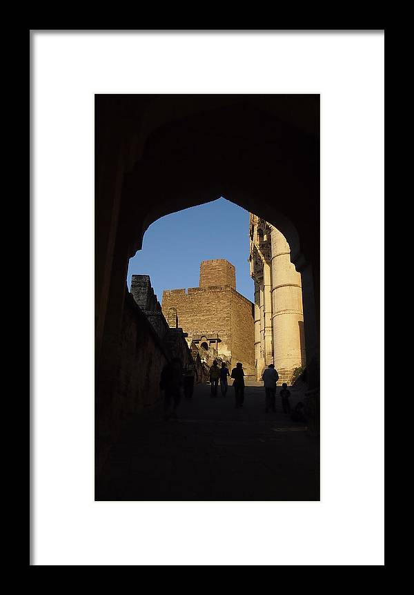 Mehrangarh Framed Print featuring the photograph Palace Through Arch by Sujith Gopinath
