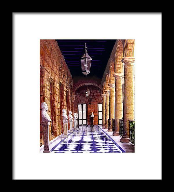 Cuban Art Framed Print featuring the painting Palacio by Jose Manuel Abraham