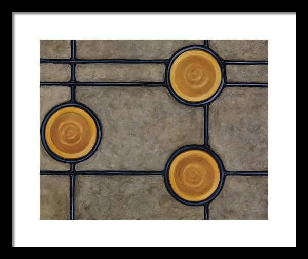Circles Framed Print featuring the painting Palatial by Don Mullins