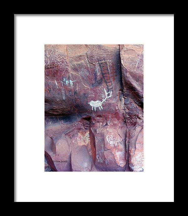 Sedona Framed Print featuring the photograph Palatki Site Pictographs by Gina Janelli