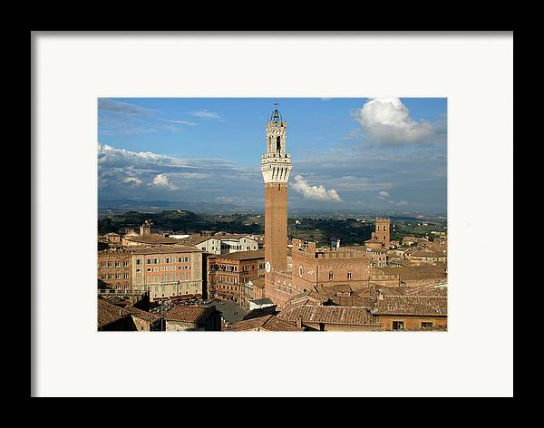 Siena Framed Print featuring the photograph Palazzo Pubblico And Campo Siena by Mathew Lodge