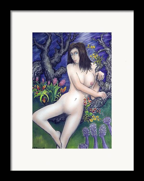 Nude Framed Print featuring the painting Pale Flale by Eddie Sargent
