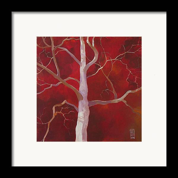 Tree Framed Print featuring the painting Pale Shade Of Winter by Alessandro Andreuccetti