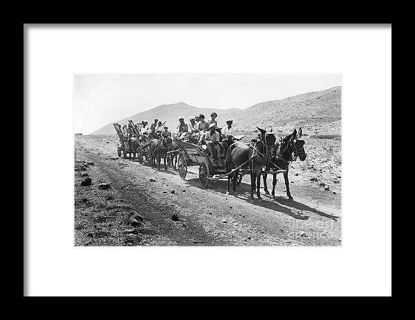 1920 Framed Print featuring the photograph Palestine Colonists, 1920 by Granger