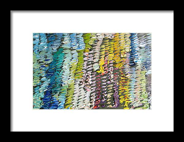 Abstract Framed Print featuring the painting PALETTE. Colorful painter palette. Exhausted paint and abstract painting. by Vitali Komarov