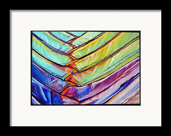 Abstract Framed Print featuring the painting Palm 1 by Gail Zavala