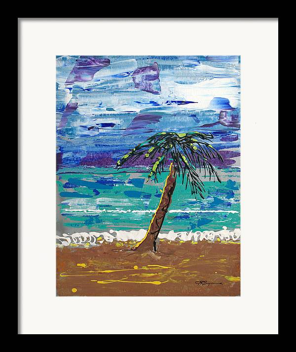 Palm Tree Framed Print featuring the painting Palm Beach by J R Seymour