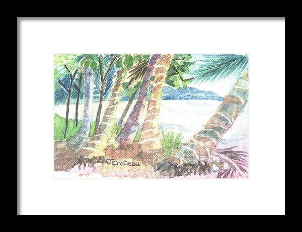 Palm Tree Framed Print featuring the painting Palm Beach by Jane Croteau