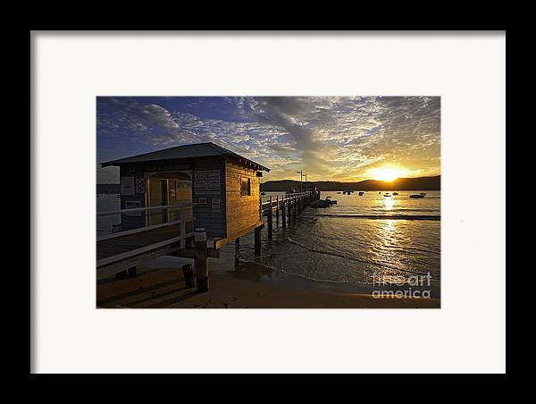 Palm Beach Sydney Australia Sunset Water Pittwater Framed Print featuring the photograph Palm Beach Sunset by Sheila Smart Fine Art Photography