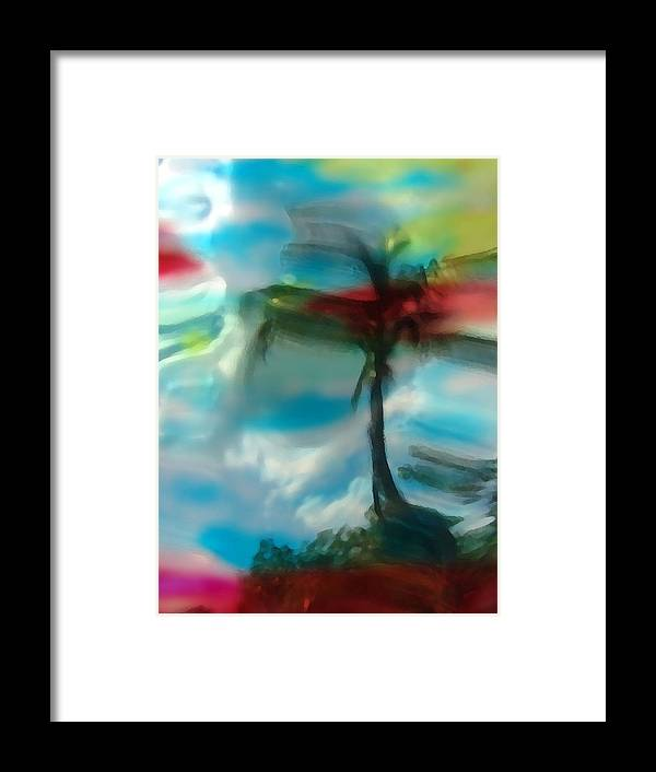 Abstract Framed Print featuring the photograph Palm Impressions by Florene Welebny
