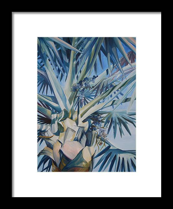 Tree Framed Print featuring the painting Palm by Katherine Fyall