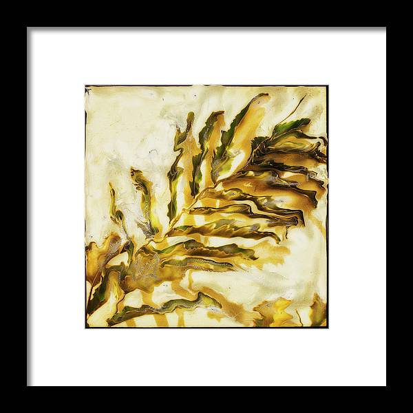 Paul Tokarski Framed Print featuring the photograph Palm On Wall by Paul Tokarski