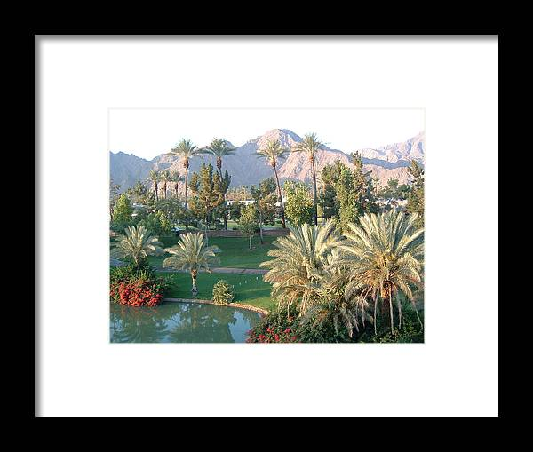 Landscape Framed Print featuring the photograph Palm Springs Ca by Cheryl Ehlers