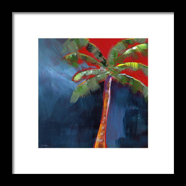 Palm Tree Framed Print featuring the painting Palm Tree- Art by Linda Woods by Linda Woods