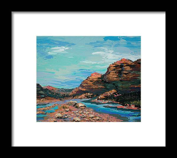 Landscape Framed Print featuring the painting Palma Canyon by Cathy Fuchs-Holman