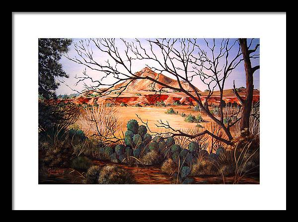 Palo Duro Canyon Framed Print featuring the painting Palo Duro Canyon by Cynara Shelton