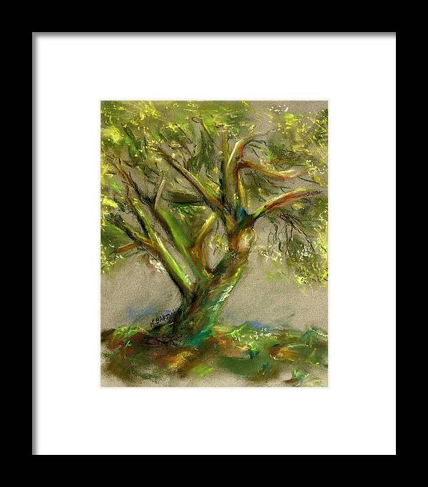 Desert Framed Print featuring the painting Palo Verde by Marilyn Barton
