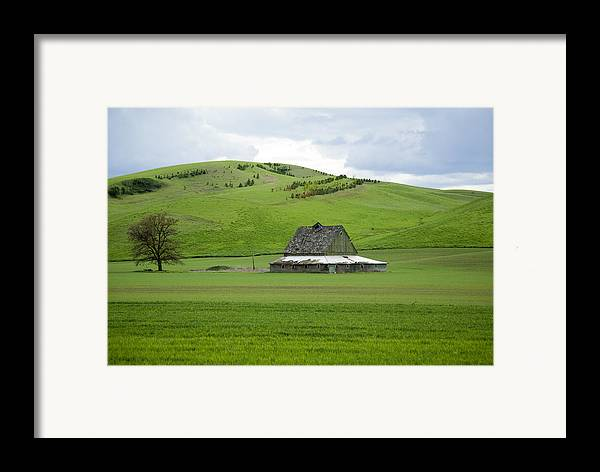 Palouse Framed Print featuring the photograph Palouse Old Barn by Louise Magno