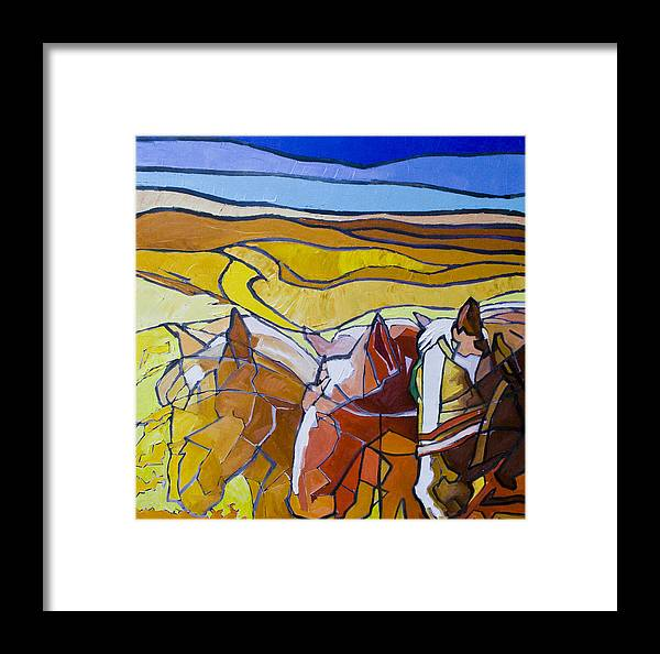 Horses Framed Print featuring the painting Palouse Trio by Gregg Caudell