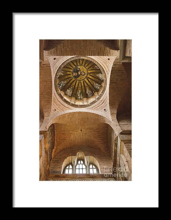 Fatih Framed Print featuring the photograph Pammakaristos Church Interior by Bob Phillips