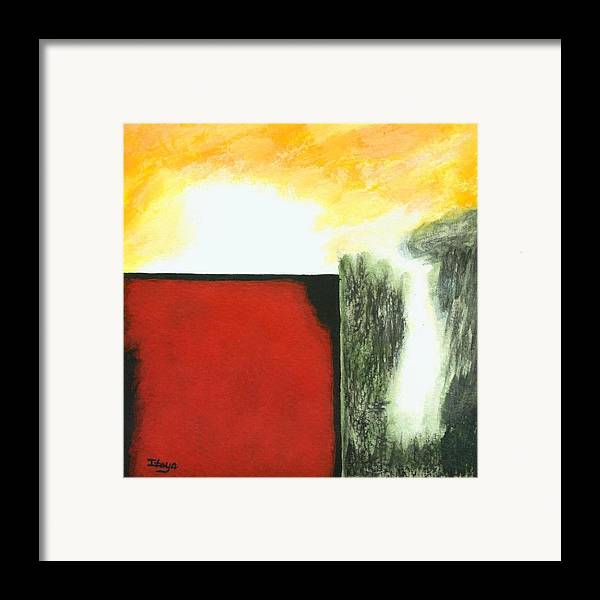 Abstract Framed Print featuring the painting Pandoras Box by Itaya Lightbourne