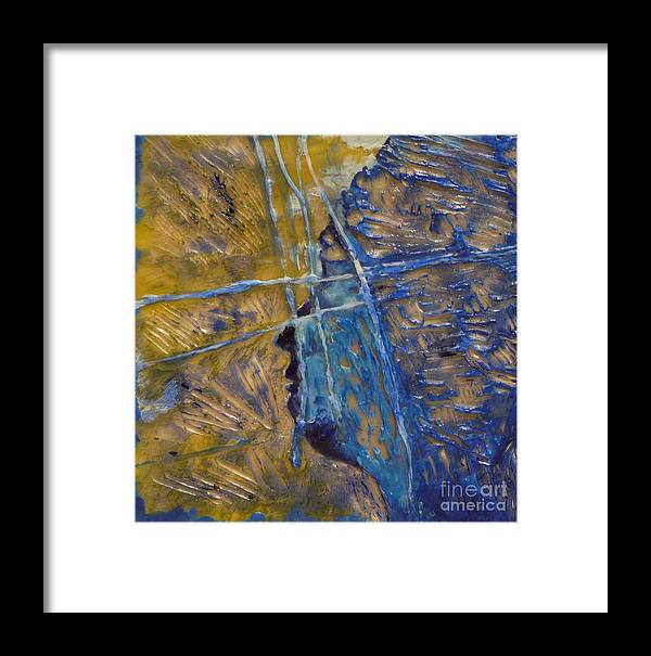 Encaustic Framed Print featuring the painting Panel 2 by Heather Hennick