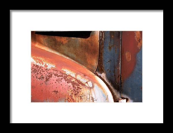 Abstract Framed Print featuring the photograph Panel from Ole Bill by Steve Karol