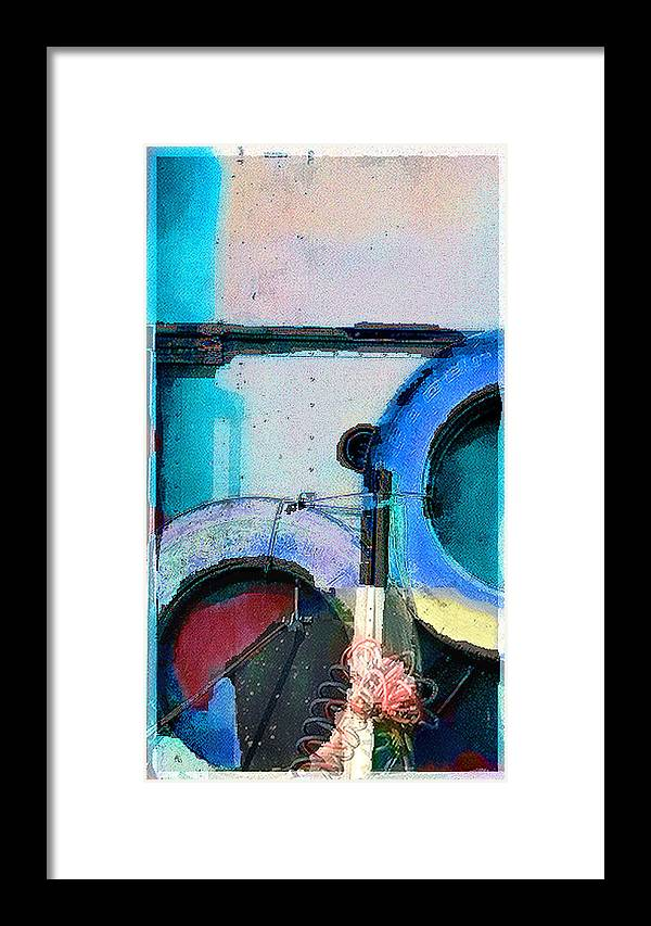 Abstract Framed Print featuring the photograph panel three from Centrifuge by Steve Karol