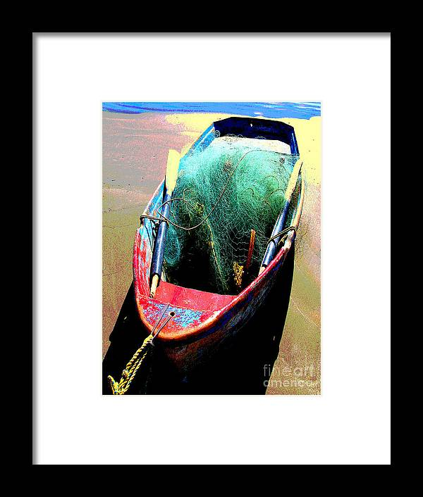 Michael Fitzpatrick Framed Print featuring the photograph Pangas And Nets 1 By Michael Fitzpatrick by Mexicolors Art Photography