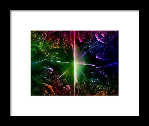 Art Framed Print featuring the digital art Panic by Jeff Iverson