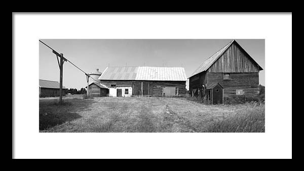Old Barns Framed Print featuring the photograph Panorama - Old Barn On 1279-hwy 57 by Stephen Mack