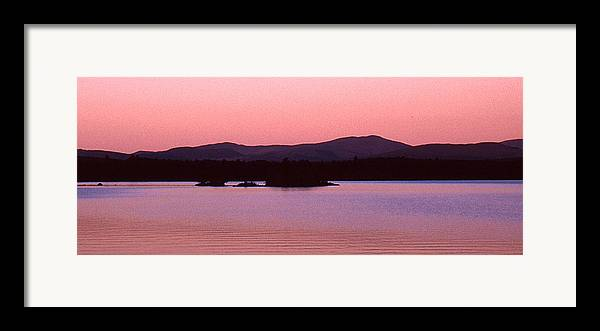 Panorama Framed Print featuring the photograph Panorama-predawn Lake Umbagog by Roger Soule