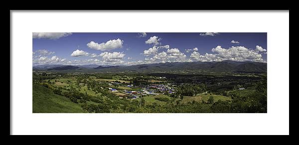 Mountain Framed Print featuring the photograph Panorama View Point Of Pai  by Nomadic Ninja Negativs