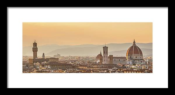 Florence Framed Print featuring the photograph Panorama Of Florence by Delphimages Photo Creations