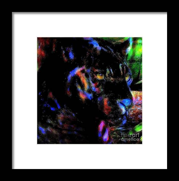 Panther Framed Print featuring the painting Panther by Wbk
