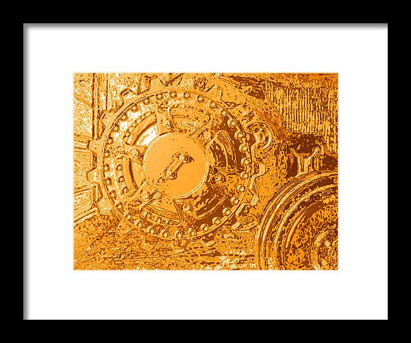 Tanks Framed Print featuring the photograph Panther Wheels Embossed by Ben Freeman