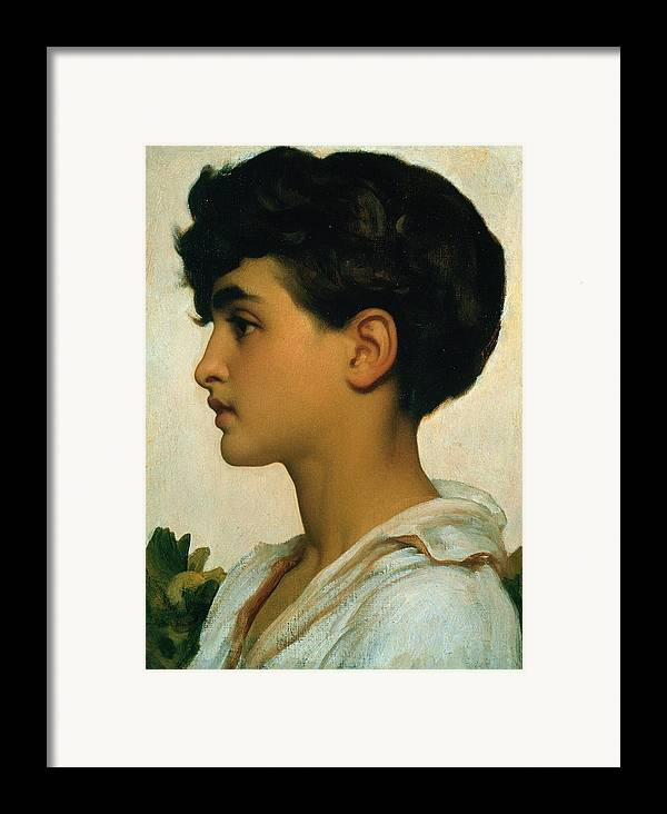 Paolo Framed Print featuring the painting Paolo by Frederic Leighton
