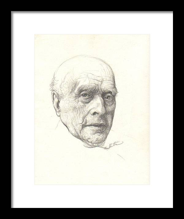 Portrait Framed Print featuring the drawing Paoul by Zois Shuttie