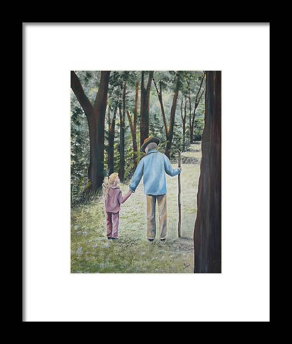 Grandfather Framed Print featuring the painting Papa by Kris Crollard
