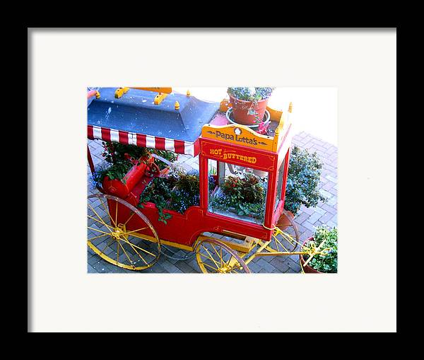 Popcorn Framed Print featuring the photograph Papa Lottas Hot Buttered Popcorn by Bob Gardner