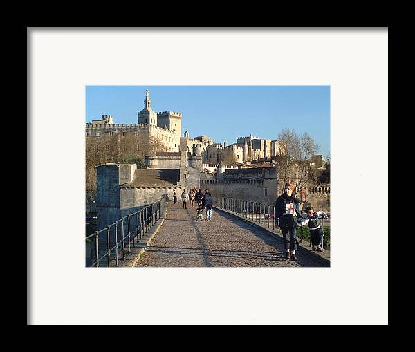 Pope Palace Framed Print featuring the photograph Papal Palace Avignon by Charles Ridgway