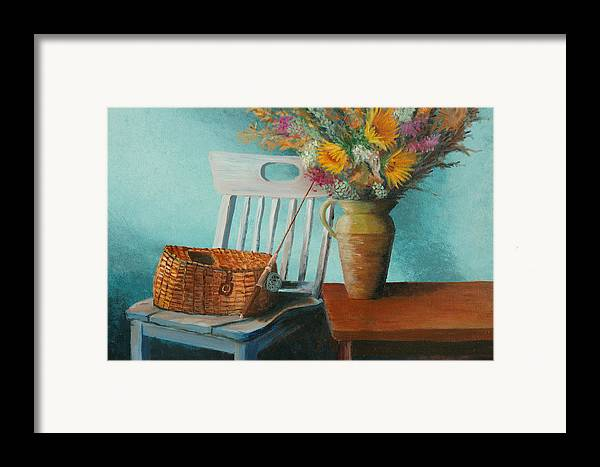 Floral Framed Print featuring the painting Papa's Pole by Jerry McElroy