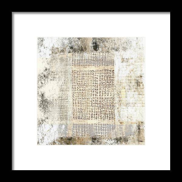 Texture Framed Print featuring the mixed media Paper And Cement Texture by Carol Leigh