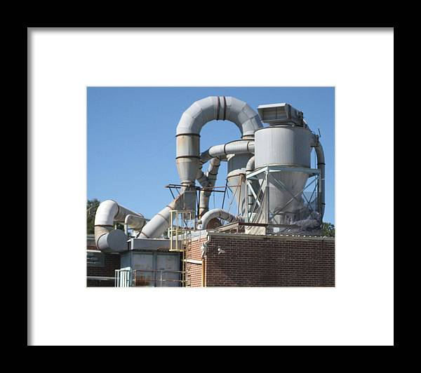 Digital Photograph Framed Print featuring the photograph Paper Recycling Plant 1 by Stephen Hawks