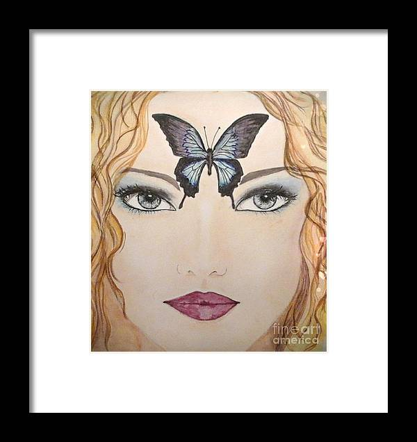 Framed Print featuring the painting Papillon by Catherine Ducourant