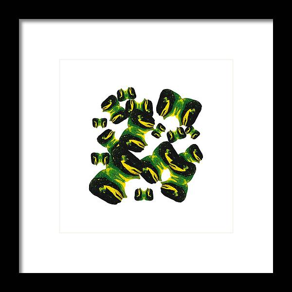 Flowing Art Framed Print featuring the painting Para Black by HWade Hunter