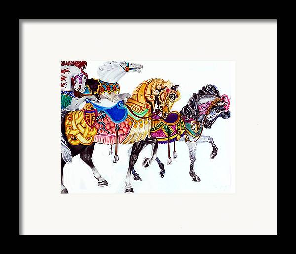 Horses Framed Print featuring the print Parade by Bette Gray