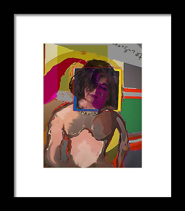 Framed Print featuring the mixed media Paradigm by Noredin Morgan